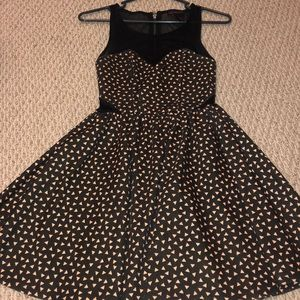 Material Girl black and pink pattern dress. Size S
